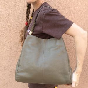 Coach Bags - Coach Olive Green Leather Purse